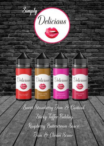 New Delicious Range (120ml) E-Liquid